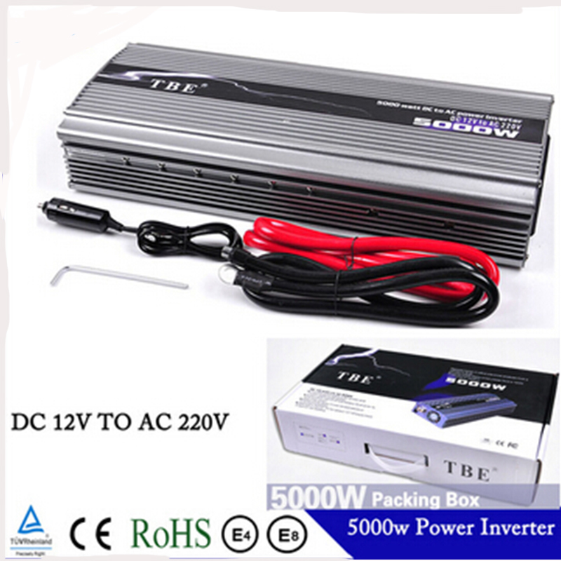 TBE 5000 watt DC 12 v ZU AC 220 v Kompakte Tragbare Ladegerät adapter Auto Power <font><b>Inverter</b></font> Adapter Modifizierte Sinus welle image