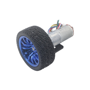 Image 5 - Dc 6V 12V 24V 12 1360 Rpm Mini Encoder Reductiemotor Met Koppeling 65Mm Wiel smart Tracking Line Smart Car Kit