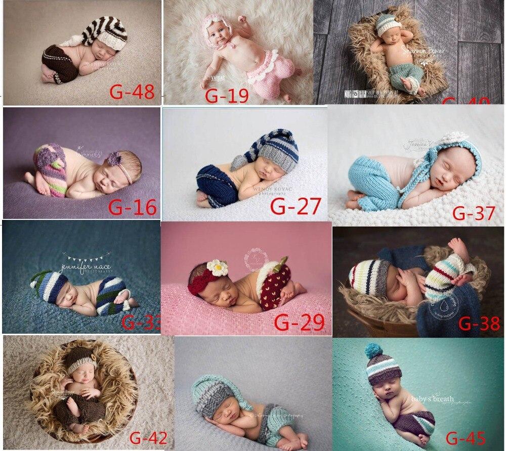 2015 suave nuevo bebé recién nacido disfraz fotografía Prop colorido Rosa lindo sombrero infantil niña y niño tejido Crochet envío gratis