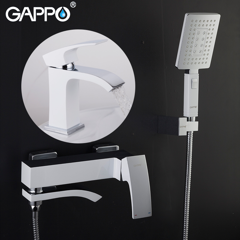 GAPPO Bathtub Faucets wall mounted bath tub faucet tap water tap mixer bathroom shower basin faucets square wall mounted water tap bathroom faucet mixer