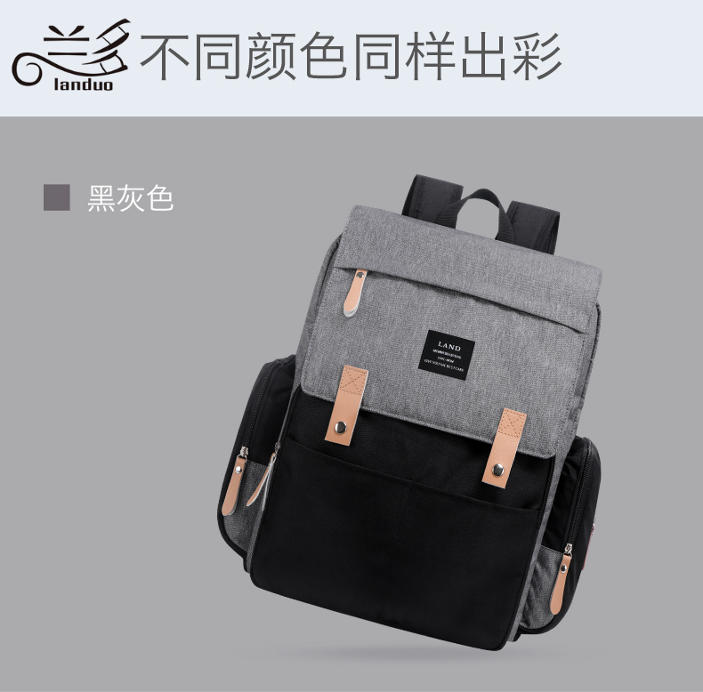 HTB1z094XffsK1RjSszgq6yXzpXaS LAND Mommy Diaper Bags Landuo Mother Large Capacity Travel Nappy Backpacks with changing mat Convenient Baby Nursing Bags MPB86