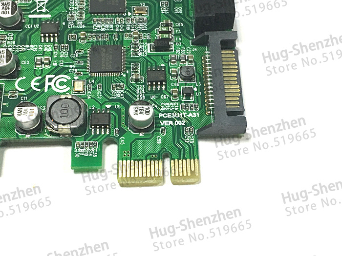 1pcs--high Quality Pci-e X1 Usb3.0 To Usb type-c Pci-e X1 Expression Card Computer Cables & Connectors