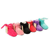 Girls Shoes 2018 New Indoor Home Slippers Flannel Shoes Plush Home Slippers children Wooden Floor Slippers For Girls Candy Shoes