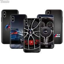f4c874f3dc3 Moda coches BMW serie M logotipo suave funda de teléfono para Apple iPhone  7 7 Plus X XR XS MAX para iPhone 6 6 s Plus 5S caso C..