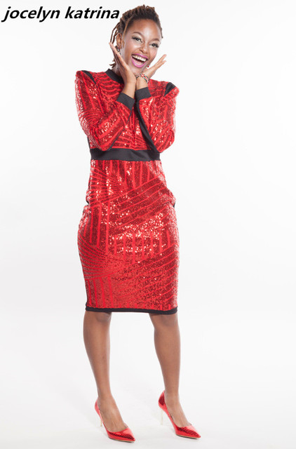Jocelyn katrina marke fashion pailletten kleid langarm party club ...