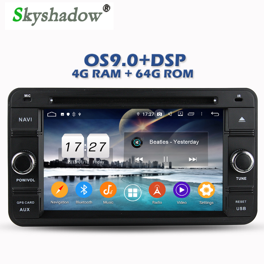 Cheap IPS DSP Android 9.0 4GB RAM 64GB ROM Car DVD Player Wifi 4G Bluetooth RDS RADIO GPS Map For SUZUKI Jimny 2007 2008 2009-2013 0