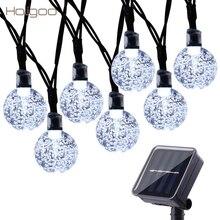 Holigoo Led Strip 30 LED Crystal Ball Light String Solar Power Lamp Globe Fairy Light for Garden Party Home Christmas Decoration