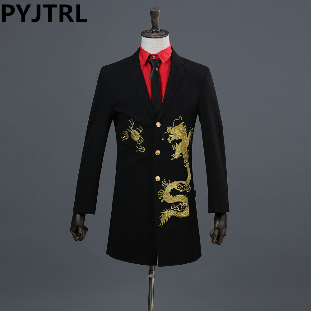 Клубный пиджак с вышивкой