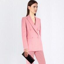 Professional women pants suit fashion business formal slim long sleeve blazer with trousers office ladies plus size work wear цена и фото