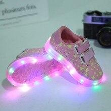 (5 unids/lote) 2017 nuevos niños luces led light shoes hombres y girl lazy casual shoes niños y niñas resbaladiza sport shoes