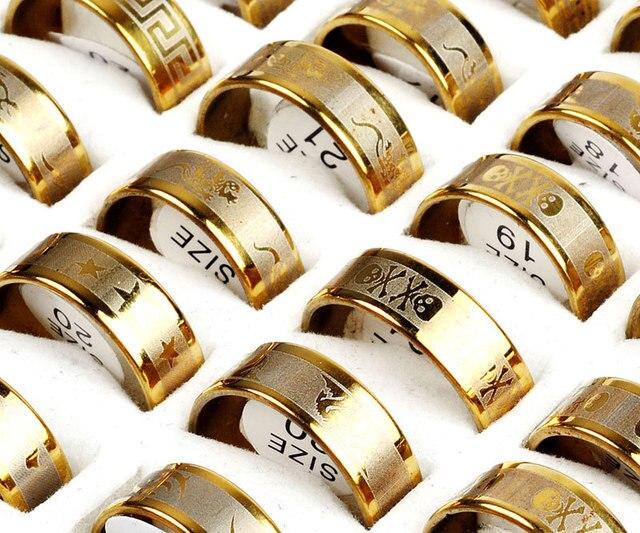 Großhandel 12 Teile los Chirurgischer Edelstahl Ringe Schmuck für
