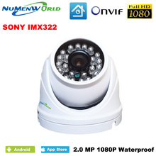 Mini IP camera 1080p Outdoor Network Waterproof Home Security Camera 2.0MP Onvif 24 IR Led Dome Camera Min Cam Digital Record