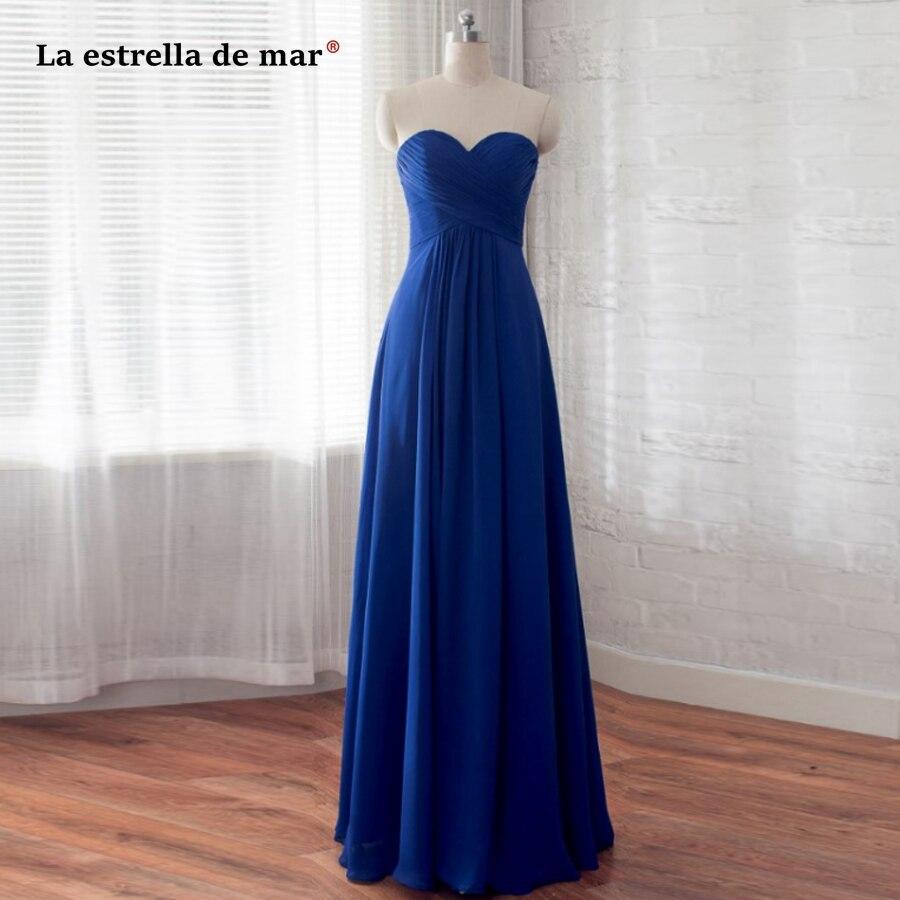 robe demoiselle d'honneur SALE Chiffon Off the Shoulder Backless A Line Royal Blue Turquoise Orange Purple   Bridesmaid     Dress   Long