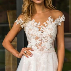 Image 3 - LORIE plaża suknia ślubna koronkowa Scoop line aplikacje tiul długa księżniczka w stylu Vintage suknia ślubna 2019 suknia ślubna szyta na zamówienie suknia