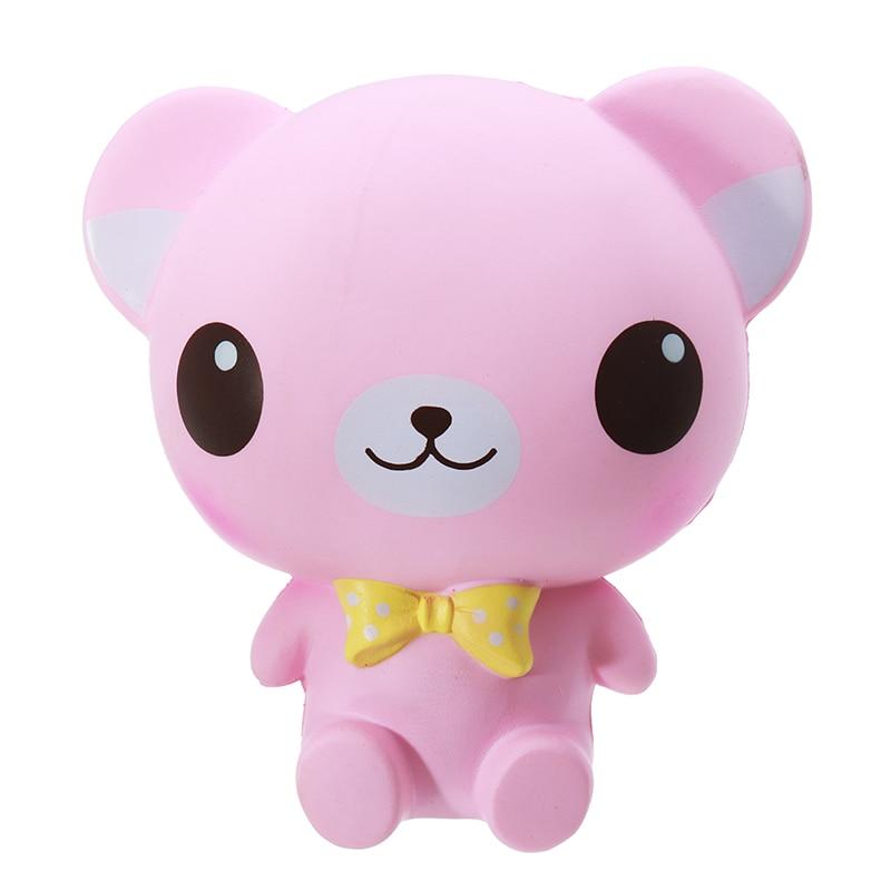 Cartoon Big Eye Bear 16cmSlow Rising Phone Straps Relieves Stress Decoration Toys Funny Kids Children