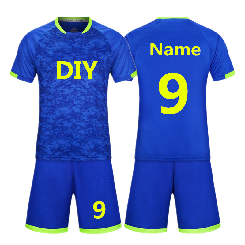 New High Quality Kids Soccer Jerseys Sets Survetement Football Kits Adult Men Child Futbol Training Cheap Uniforms set DIY print 2015 camisetas de futbol survetement soccer jerseys