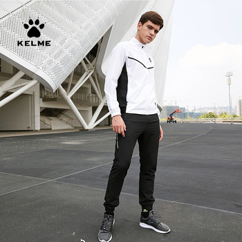 KELME Men's Sportswear Sport Running Jogging Suit Men Fitness Tracksuits Woven Hoodie Sweatpants Sweatshirt Suits Man 3981514