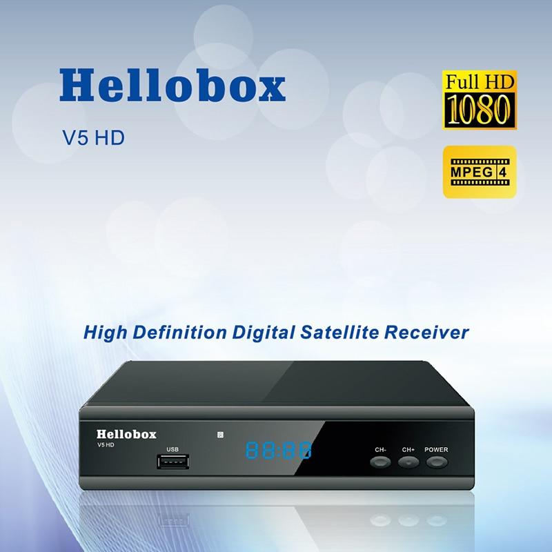 Hellobox V5 Satellite Receiver DVBS2 IPTV Online Software Upgrade Support CCCAM Newcam Mgcam  SCAM 2 Year TV BOX v8 super dvb s2 full 1080p hd fta satellite receiver usb wifi support biss key newcam 3g iptv youporn 1 year europe cccam server
