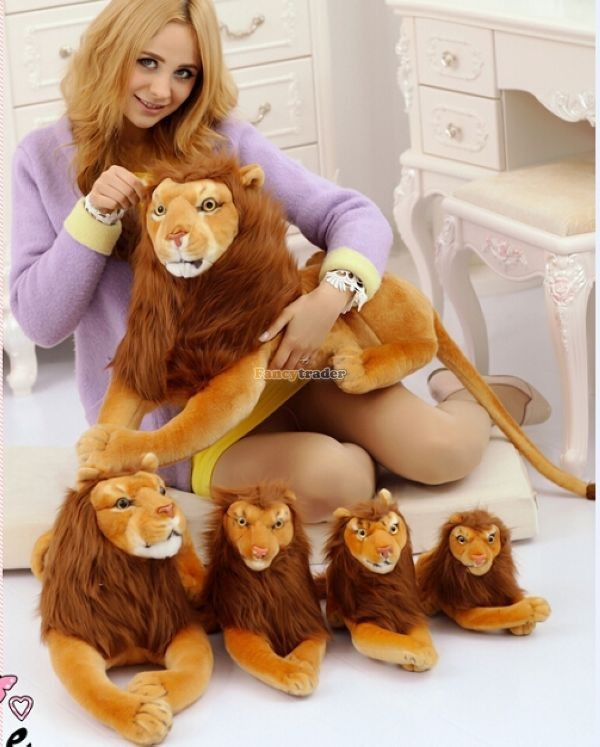 Fancytrader Rare Item! 49\'\' 125cm Emulational Plush Jumbo Soft Stuffed The Lion King Simba, Free Shipping FT50176 (4)