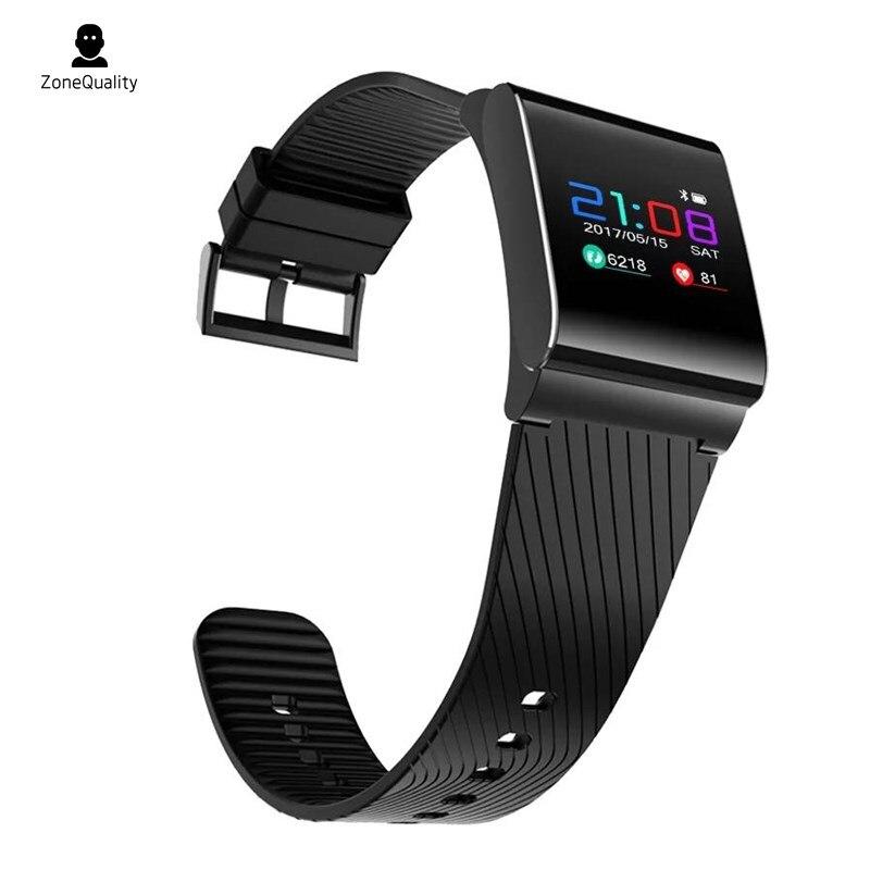 ZoneQuality X9 Pro Bracelet à bande intelligente podomètre montre de pression artérielle Bracelet de Sport dispositif de suivi de la fréquence cardiaque pour iOS/Android