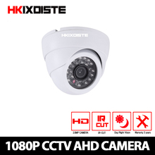HKIXDISTE HD 1080P AHD Camera Dome IR Night Vision AHD P2P Android iPhone View 2MP CCTV Security Indoor Camera