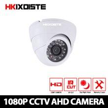 HKIXDISTE cámara domo HD 1080P AHD, visión nocturna, AHD, P2P, Android, iPhone, vista, 2MP, CCTV, cámara de seguridad interior