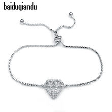 Sparkling Cubic Zirconia Crystal Allure Zircon CZ Brilliant Adjustable Bracelets for Women or Party(China)
