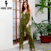 MISSORD 2016 Sexy Sleeveless V NECK Halter Lace Tassel Jumpsuits FT4661 2