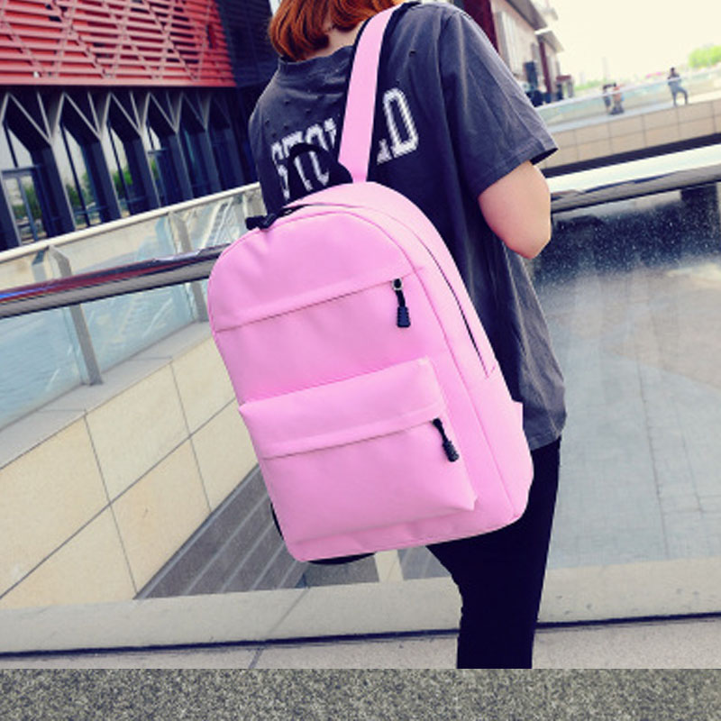 lona feminino mochila coreano para Técnica : Gravando