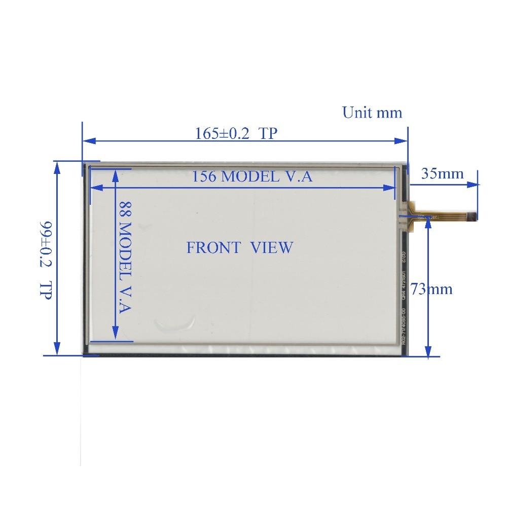 ZhiYuSun nova 164mm * 99mm QR4 4721S01 o touchsensor Compatível vidro Da Tela de Toque 164 * 99for GPS DO CARRO