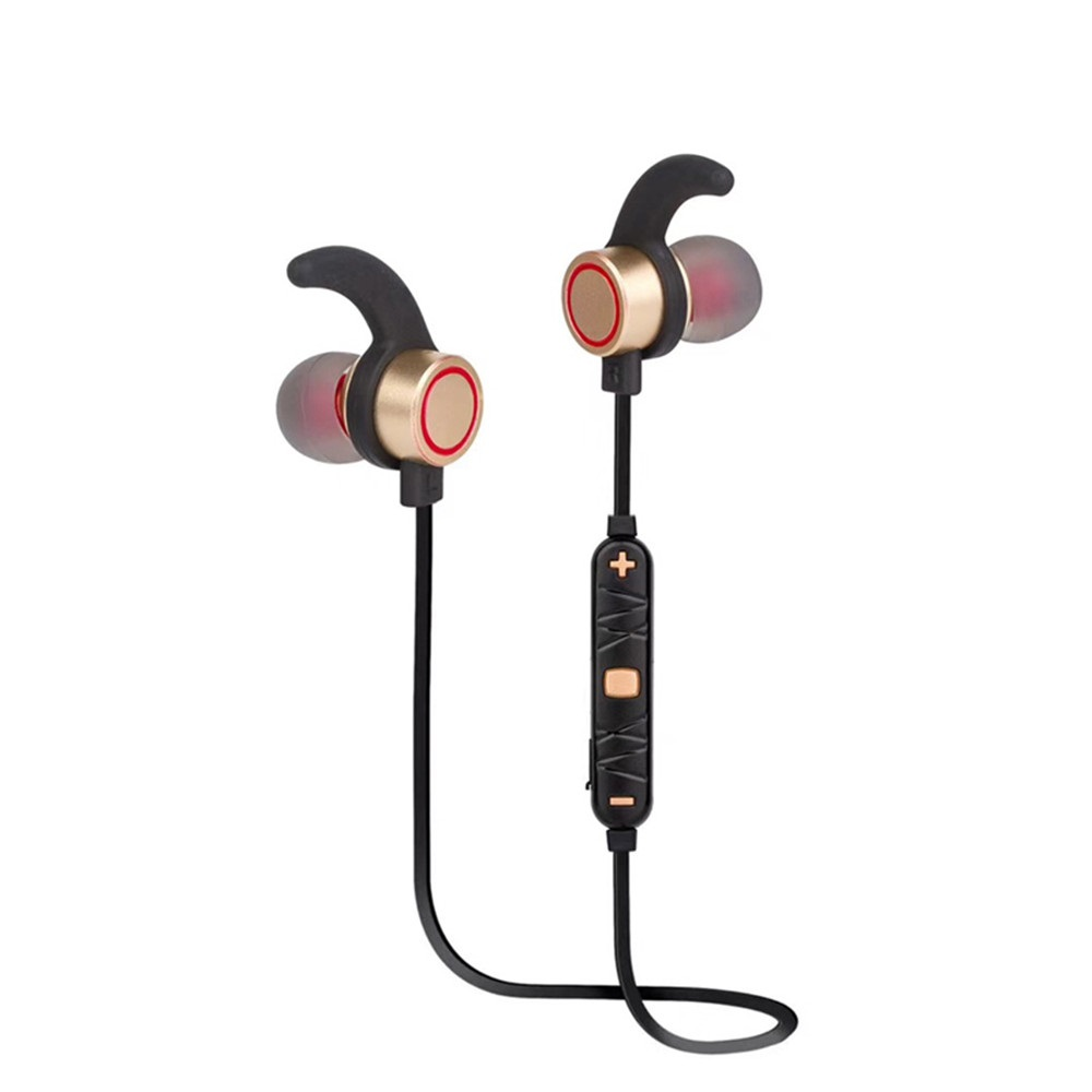 Bluetooth Earphone For Mobile Phone In Ear Wireless Earphones Fone De Ouvido Sports Running Metal Magnet Headsets in Bluetooth Earphones Headphones from Consumer Electronics