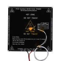 Reprap MK2B lit chauffant 214*214*1.6 MM MK2B lit chauffant PCB Led thermistance pour imprimante 3D comme MK2A Hotbed pour pièces d'imprimante 3D Mendel