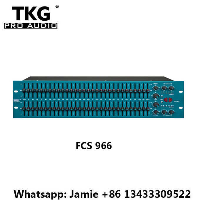 TKG BSS FCS966 FCS 966 Audio EQ High Pass Filter BSS FCS966 Dual 30 Bit Graphic