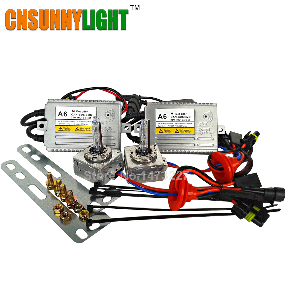 CNSUNNYLIGHT D5S Xenon Hid Kit 12V 35W 5500K for VW Tiguan 2013/14 KIA K3 SKODAs New Superb BUICKs XT EXcelle D5S Canbus Hid Kit akg d5s page 3