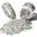 1 Caixa de 10g de Laser Holo Glitter Prego Lantejoulas Brilhando Prata Hexagon Dicas Manicure Nail Art Decoração