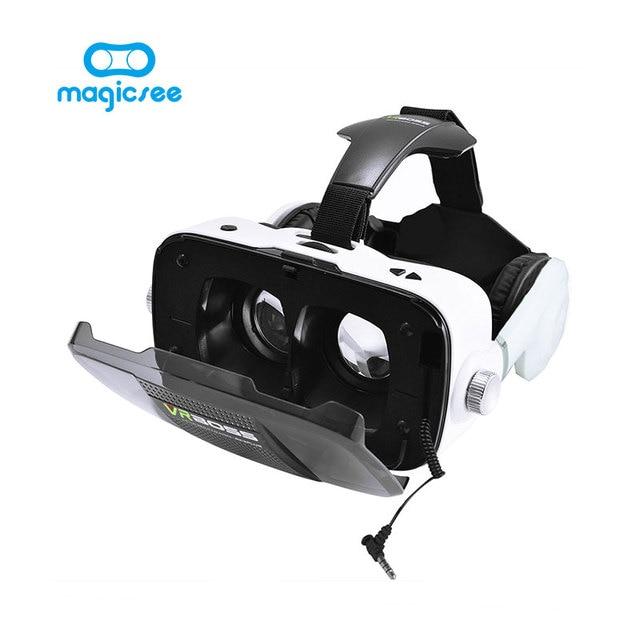 Новый БОСС VR Виртуальная Реальность 3D очки С наушников микрофон Гарнитуры Динамик Кнопка для 4.0-6.0 смартфон