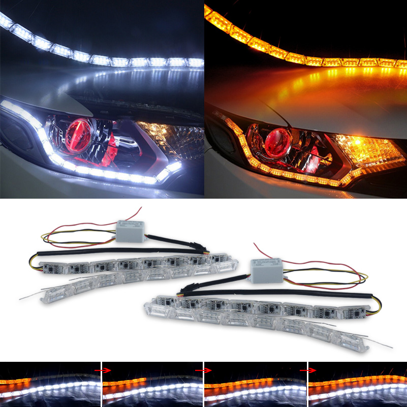 Flux de voiture Feux de jour Led DRL Clignotants Pour Chevrolet Cruze Aveo Lacetti Captiva Cruz Niva Spark Orlando Epica Sonic