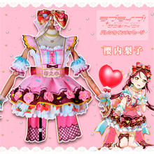 купить Anime Cosplay Costume lovelive sunshine Aqours Chocolate Valentine's Day 3rd Edition Riko Sakurauchi Dress lovely style full set дешево