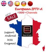1 Année Européenne IPTV abonnement Suède Arabe Français Belgique Italie Allemagne ROYAUME-UNI CA tv canaux pour Android Boîte/M3U/Enigma2