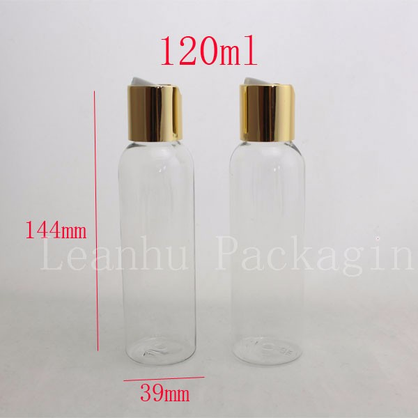 120ml-transparent-bottle-with-gold-disc-top-cap