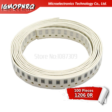 100PCS 1206 SMD Resistor 5% 0 ohm chip resistor 0.25W 1/4W 0R