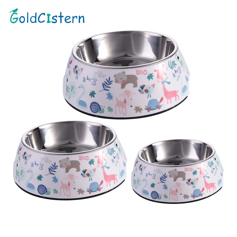 1 pc Pet Feeding Bowl Non-slip Stainless