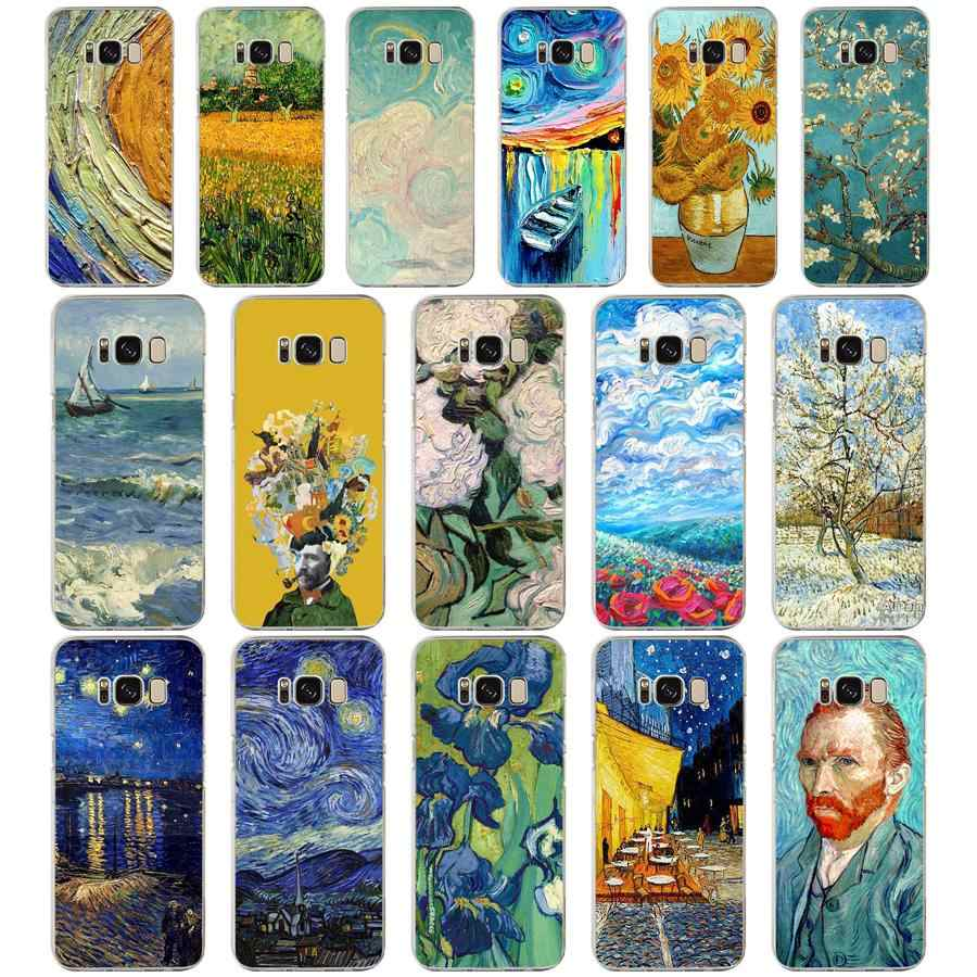 114 ZX Van Gogh TPU Soft Silicone Case For Samsung Galaxy s6 s7 edge S9 S8 S10 Plus Phone Cover Capa Capinha