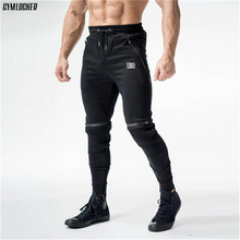 GYMLOCKER Brand 2018 NEW GYMS Mens Joggers Pants Fitness Fas