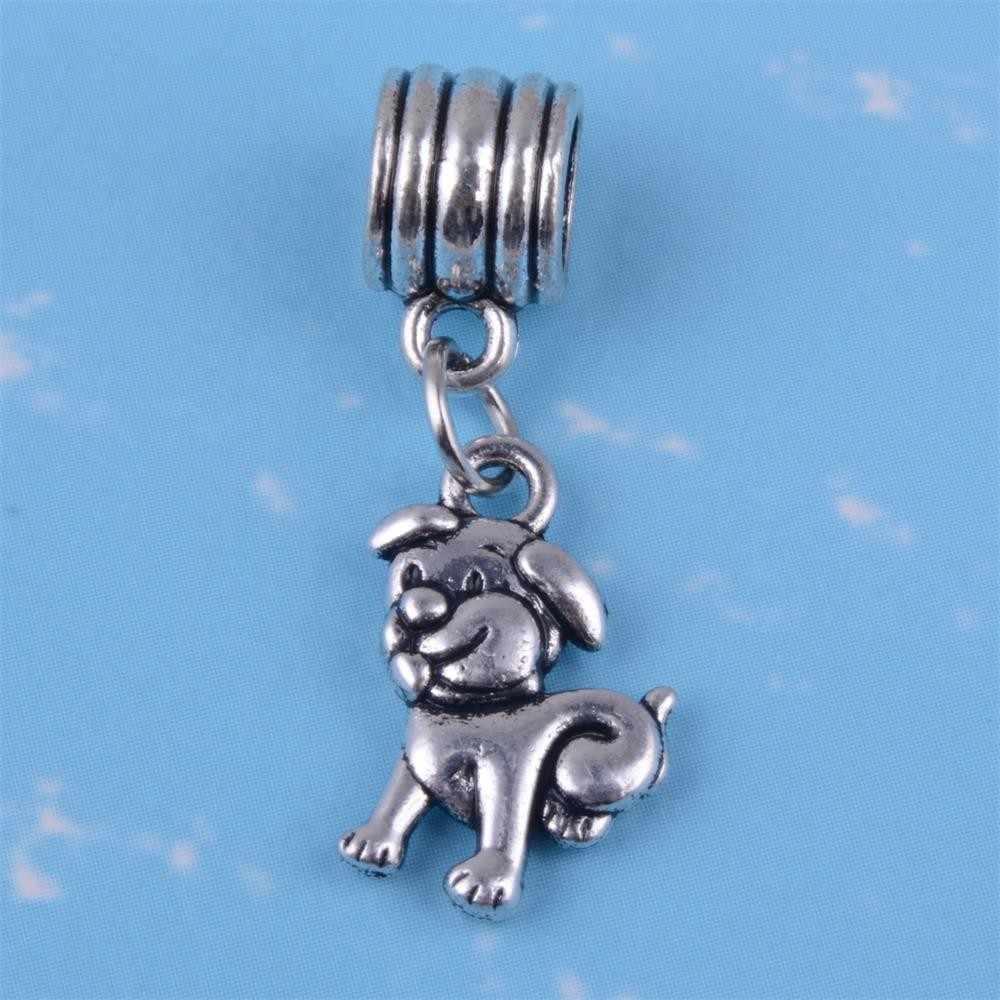 รูปร่างของฉันสัตว์เลี้ยง Greyhound Bulldog Chihuahua Dachshund Dog Paw Charms ลูกปัดพอดีสร้อยข้อมือ DIY กำไลข้อมือจี้ Charms