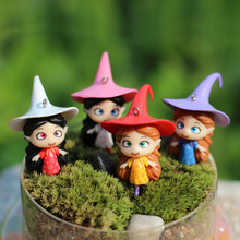 New Micro Fairy Garden Decoration Miniatures Gnomes Cartoon Movie Witch Psychic Dolls Model Action Figures Toys DIY Accessories