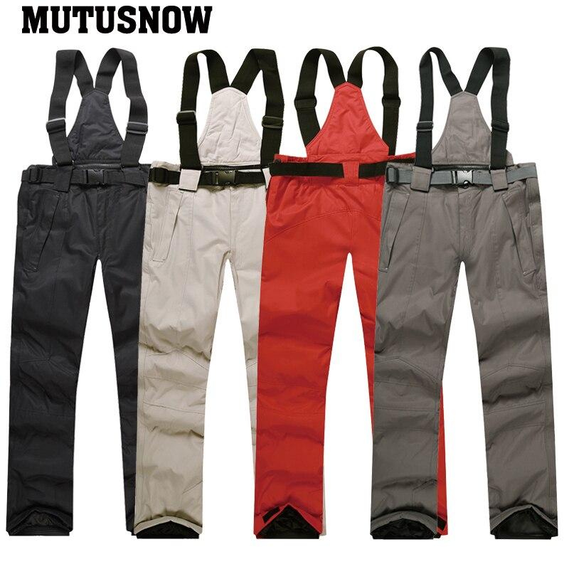2019 nouveaux hommes veste de Ski pantalon de Ski hiver chaud coupe-vent imperméable Sports de plein air marques de snowboard manteau de Ski pantalon costume de Ski - 6
