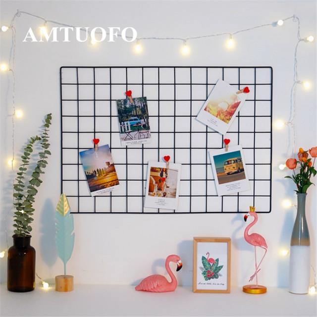 AMTUOFO Household Iron Simple Creativity Wall Hanging Grid Net ...