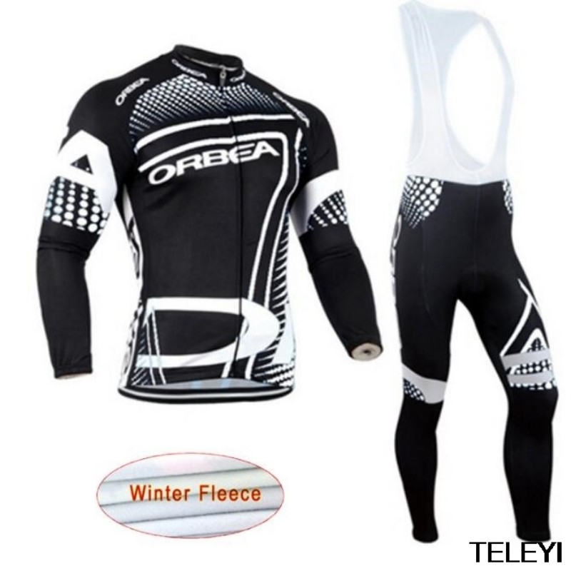Winter cycling clothing Winter thermal fleece cycling jersey long set ropa ciclismo invierno mtb bike maillot ciclismo цена 2016