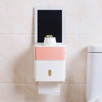 Toilet Waterproof Tissue Box Free Punch Tray Bathroom Toilet Paper Box Toilet Tissue Cutlery Toilet Carton
